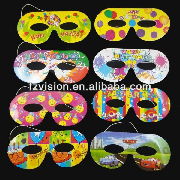Economici di carta cartone animato maschera per la festa a