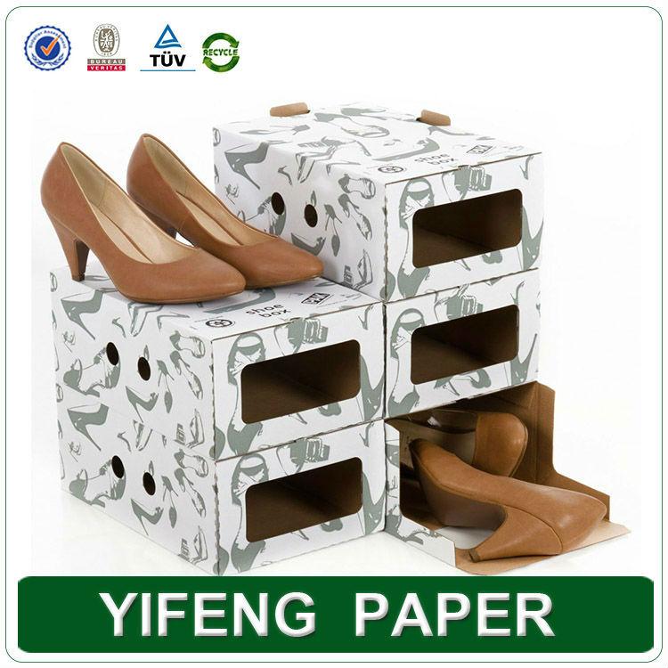 Concepteur Personnalis D Coratifs Vides Recycl S Papier Carton Des Bo Tes Chaussures En Gros