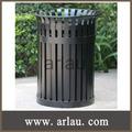 desechos de metal al aire libre cubos de la basura de contenedores (Arlau BS119)