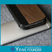 Flip leather back cover sleep function wood housing case for samsung galaxy s4 i9500 9500