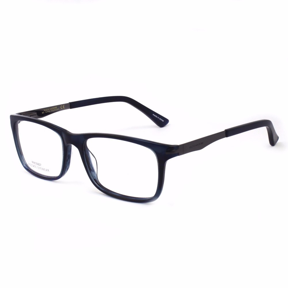 Fancy Acetate Eyeglass Optical Frames Metal Arm Combination ...
