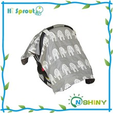 Elephant Design and Grey Color Infant Carrier Cover