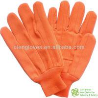 F18FO fluorescent orange chore glove