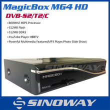 MAGICBOX MG4 HD with 300M Wifi Triple Tuner Option DVB-S2/T2/C Support YouTobe Player HBBTV Magic Box