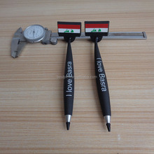 3d Iraq flag soft pvc magnetic pens, custom I love Basra fridge magnet pens hot sell