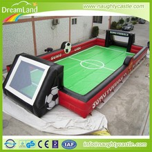 China outdoor sports games inflatable kids and adults soap soccer football court field playground for sale