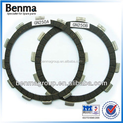 china famous brand benma clutch disc, scooter/cub/three wheel /electric paper base friction material motorcycle clutch plate