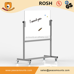 GB04 Business School use best selling polished freestanding flexible magnet glass whiteboard