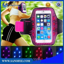 Led sport armband for mobile phone ,for iphone /samsung universal armband