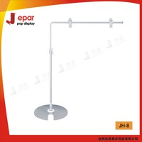 Metal L-shape advertising rotating display stand