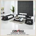 Couro branco funiture sofá de canto de couro projetos