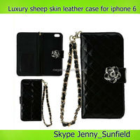 cell phone case pu luxury sheep skin leather case for iphone 6 4.7 5.5, for iphone 6 case leather ,for iphone 6 plus case cover