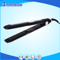 LED digital temperature control with wet and dry use function hair straightener flat iron