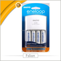 SANYO Eneloop 4-Position Ni-MH Rechargeable Battery Charger White by Sanyo