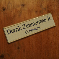 Fashion custom metal flat nameplates