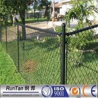 high quality hot dipped galvanized and black powder coated chain link fencing