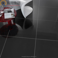 Stocked solid color polished porcelain floor tiles with ISO9001 and CE