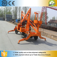 2015 New Arrival Promotion personalized trailer boom lift machine