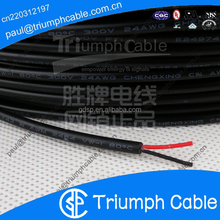 White PVC Jacketed UL Listed 18 AWG 2 Conductor Power Wire