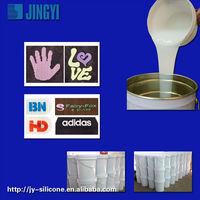 transparent liquid silicone rubber for clothing labels, shoe logo for sales