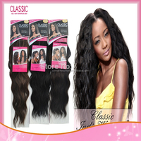Wholesale Noble Classic Natural Wave Synthetic Ombre Hair Flame Resistance High Temperature Fiber Two Tone Weft Weaving
