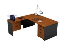 Hot sale melamine office executive desk with cabinet