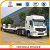 trucks with trailers low bed work plate for heavy duty machine transportation