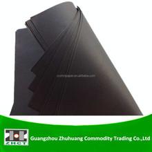 Wood pulp black paper sheets