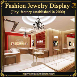 Slap-up interior furniture jewelry chain stores with glass jewellery display