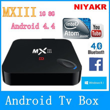 Original MXIII Android 4.4 Amlogic S802 Quad Core TV BOX 1 GB / 8 GB Google MX3 2.4 / 5 GHz Dual wi fi