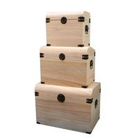 High Quality Laser Engraved Natural Large Storage Wooden Box/crate With Hinges, High Quality Large Wooden Box,Wooden Crate