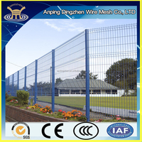 PVC coated galvanized iron fencing supplies / wire fence panels / predator proof wire mesh fencing
