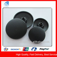 YX5424 Fashion Black Painted Metal Bulk Black Buttons