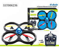 Hot 4 CHANNEL 6 AXIS AIRCRAFT 2.4 GHZ RC UFO WITH GYROSCOPE AND LAMP