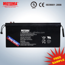 12V lead acid battery with flood light system solar panel system