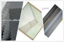 2012 Hot melt 100% polyester knitted woven fusible interlining fabric