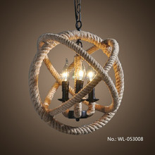 ไฟเชือกรอบวินเทจโคมไฟโคมระย้าในการออกแบบที่ไม่ซ้ำกัน