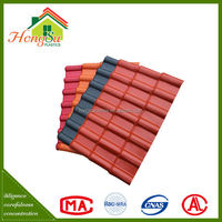 plastic building material Spanish style roof tile