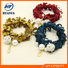 fashion jewelry women lady hair ring folding leaves hair rope for girls