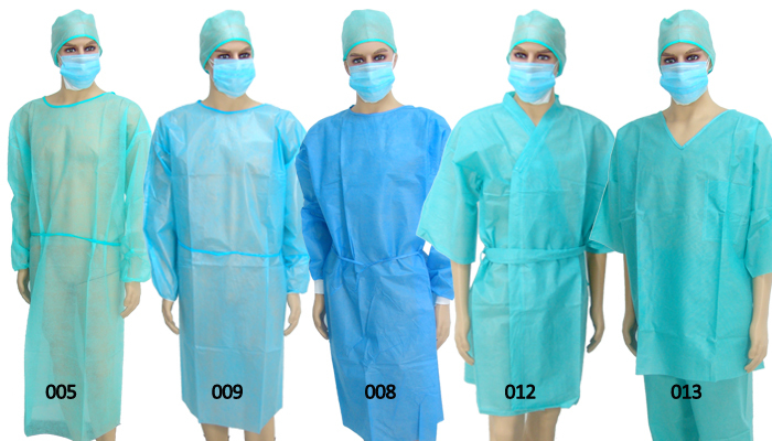 Medical Product Work Clothes Sterile Surgical Gown Plastic Isolation ...