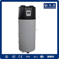 Save70% power 220V r134a 3.5KW 150L,200L,260L air source heating pump all in one ventilation heater