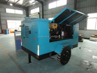 Movable mining diesel portable diesel screw compressor 150 psi