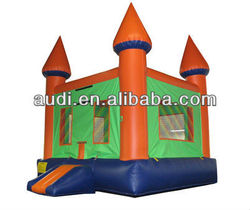 Green Orange Moonwalk Inflatable Bounce Castle/Bouncy bounces