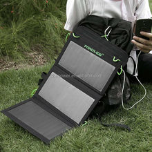 Hot selling! Assistant our moving and fashion life 19.5W Foldable Solar Panel Dual-Port Portable Solar for iPhone, iPad,ets