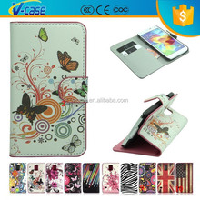 Fashion Printed Cute Lovely Magnetic Wallet Stand Flip PU Butterfly Leather Flip Case For HTC