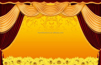 Red and yellow chinese style curtains for wholesales