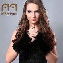 2015 Fashion Lovely Fingerless Mink Fur Gloves for Women