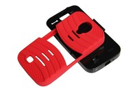 PC+Silicone mobile phone Case Kickstand For Samsung Galaxy S5 i9600