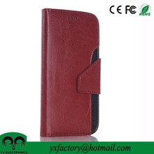 mobile phone accessories 2015 wholesale cheap pu leather wallet phone case for samsung galaxy s6 edge