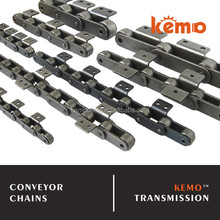 Double pitch conveyor chain with A1 K1 A2 K2 attachments